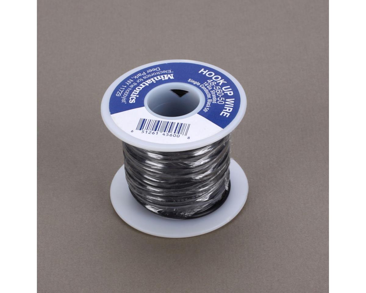 Miniatronics 50' Stranded Wire 16 Gauge, Black