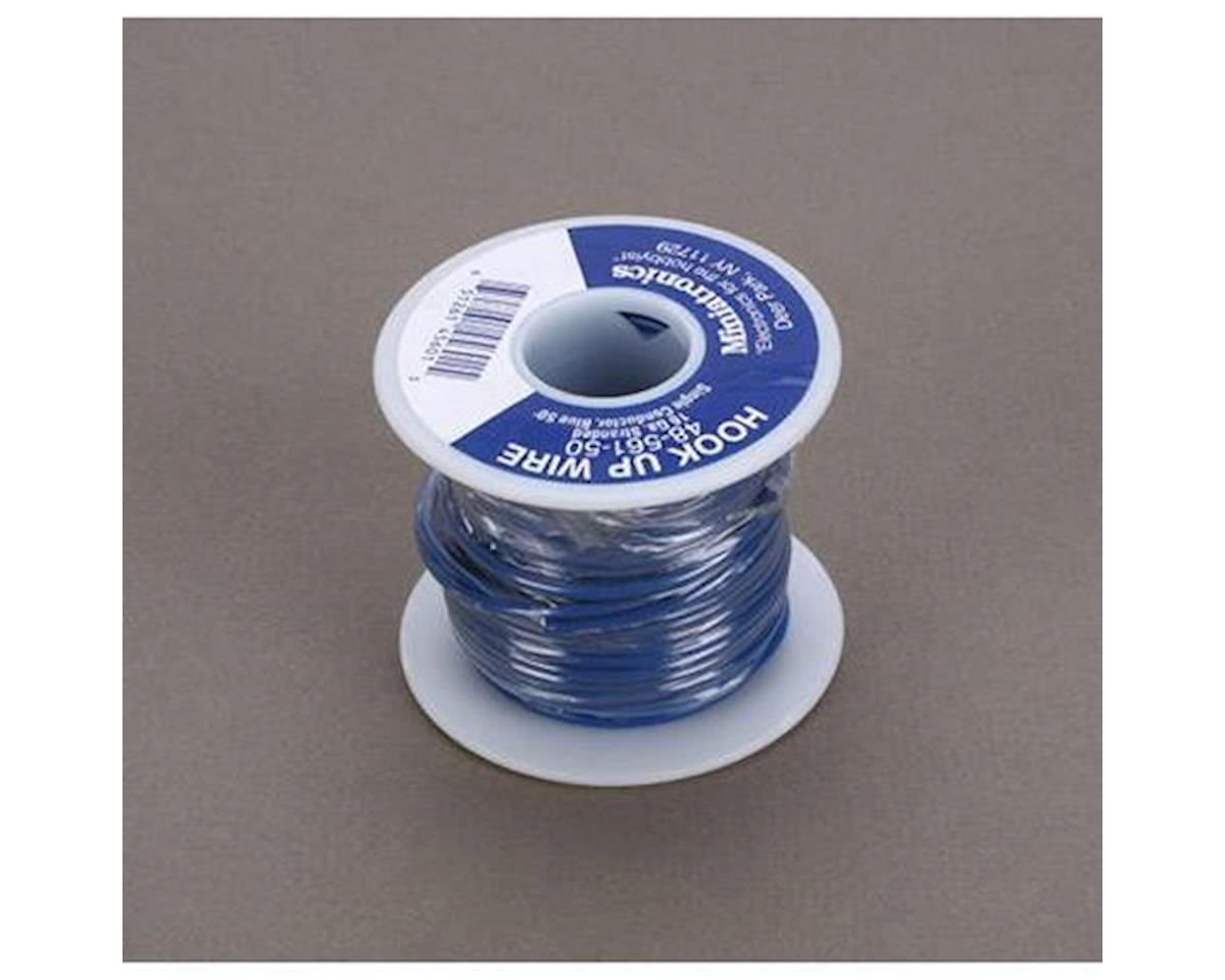 Miniatronics 50' Stranded Wire 16 Gauge, Blue