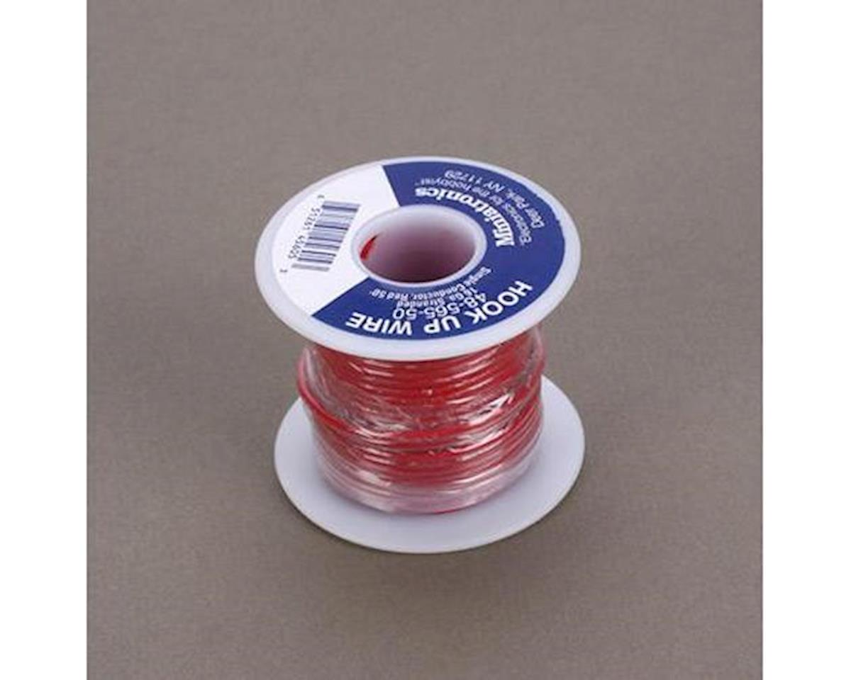 Miniatronics 50' Stranded Wire 16 Gauge, Red