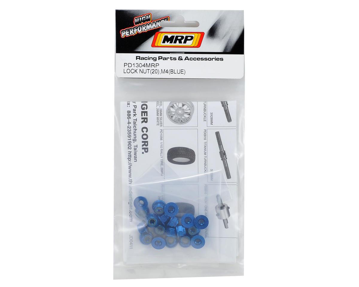 MRP M4 Aluminum Nut (20) (Blue)