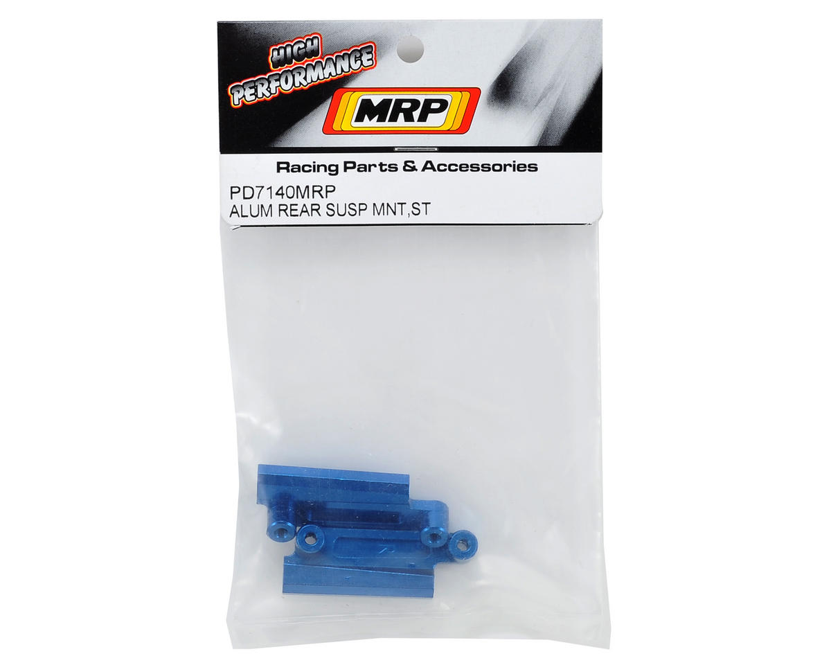 MRP Aluminum Rear Suspension Mount Set (Blue)