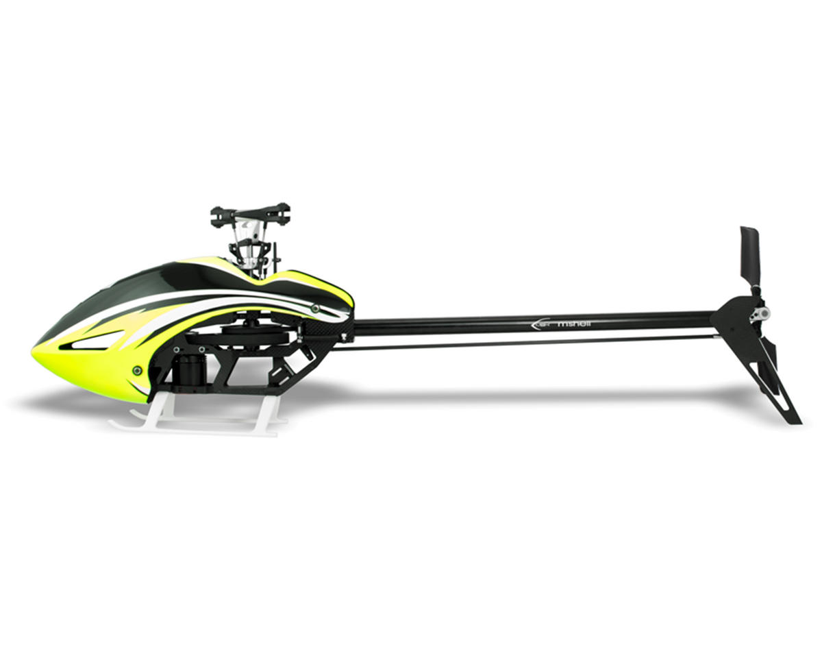 MSHeli Mini Protos 380 Helicopter w/Brain 2 Mini (Yellow) & Switch 383 Blades