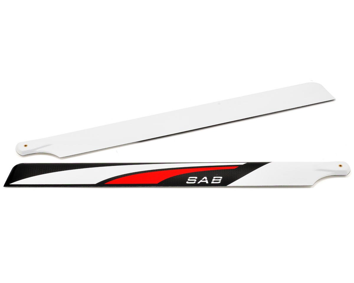 "MSHeli ""SAB Red Devil"" Carbon Fiber Main Blades"