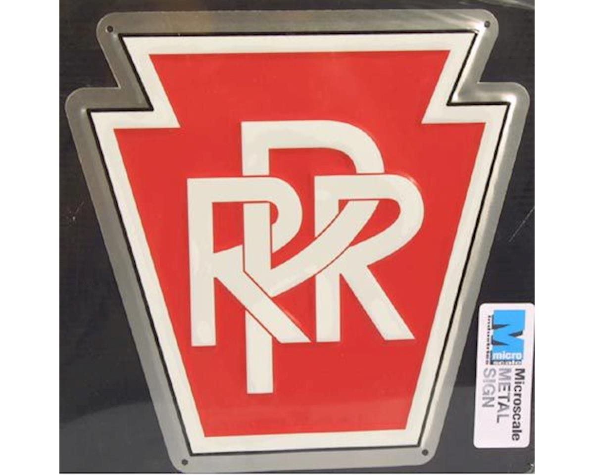 """Microscale Industries 8"""" Die-cut Metal Sign, PRR"""