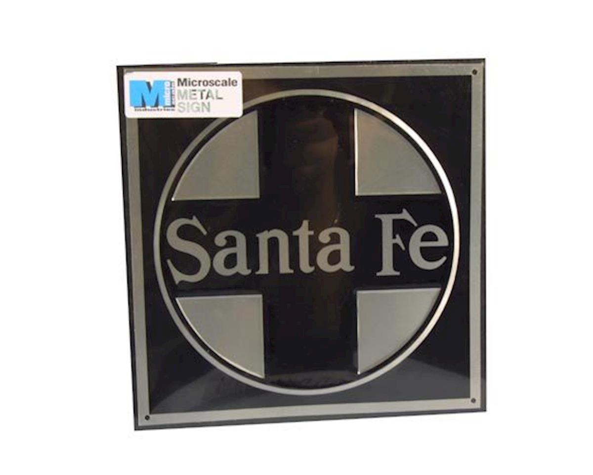 "Microscale Industries 8"" Die-Cut Metal Sign, SF/Black"