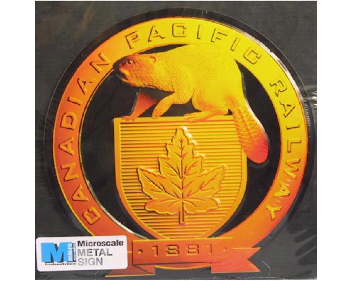 """Microscale Industries 8"""" Die-Cut Metal Sign, CPR"""