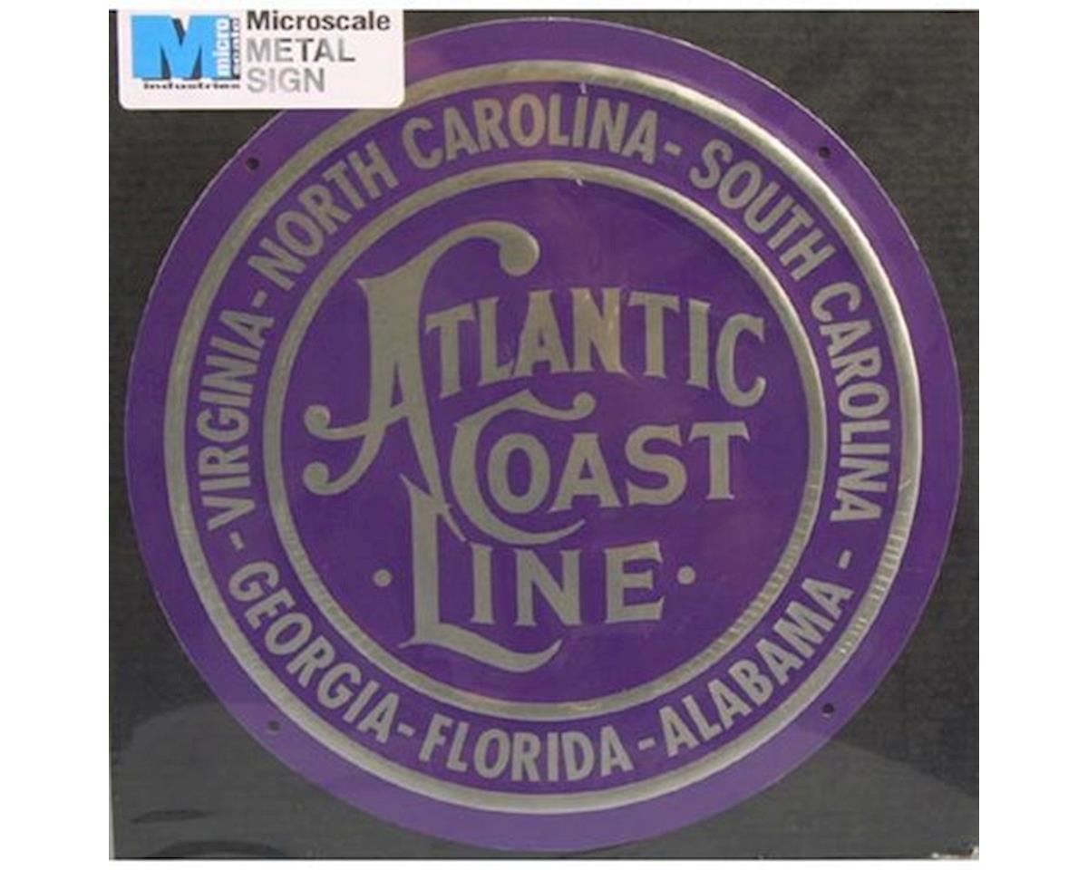 """Microscale Industries 8"""" Die-Cut Metal Sign, ACL"""