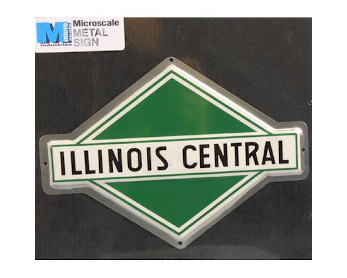 """Microscale Industries 8"""" Die-Cut Metal Sign, IC"""