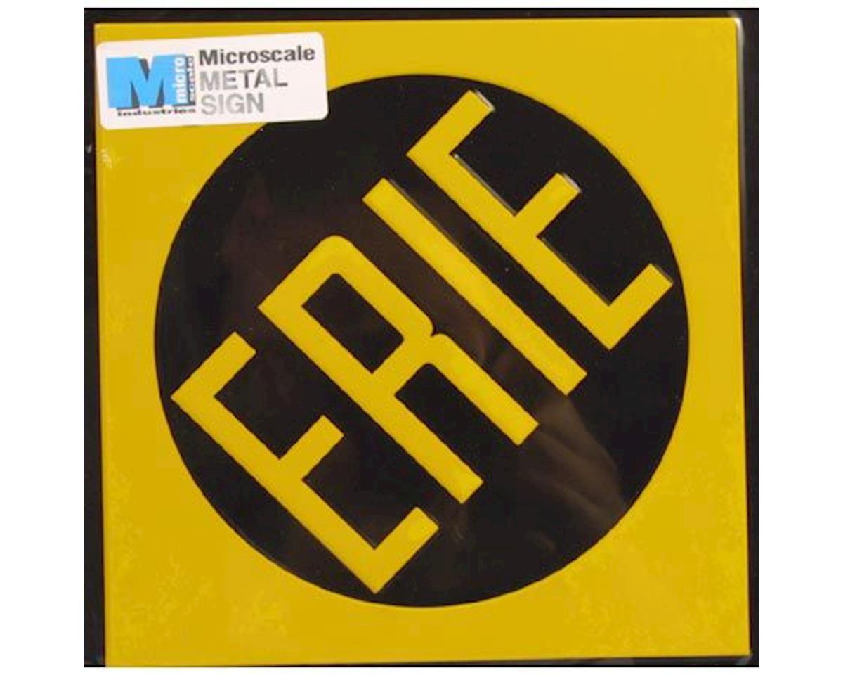 """Microscale Industries 8"""" Die-Cut Metal Sign, Erie"""