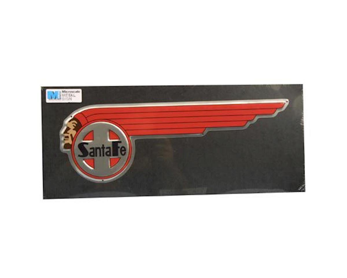 """Microscale Industries 17"""" Die-Cut Metal Sign, SF/Indian"""
