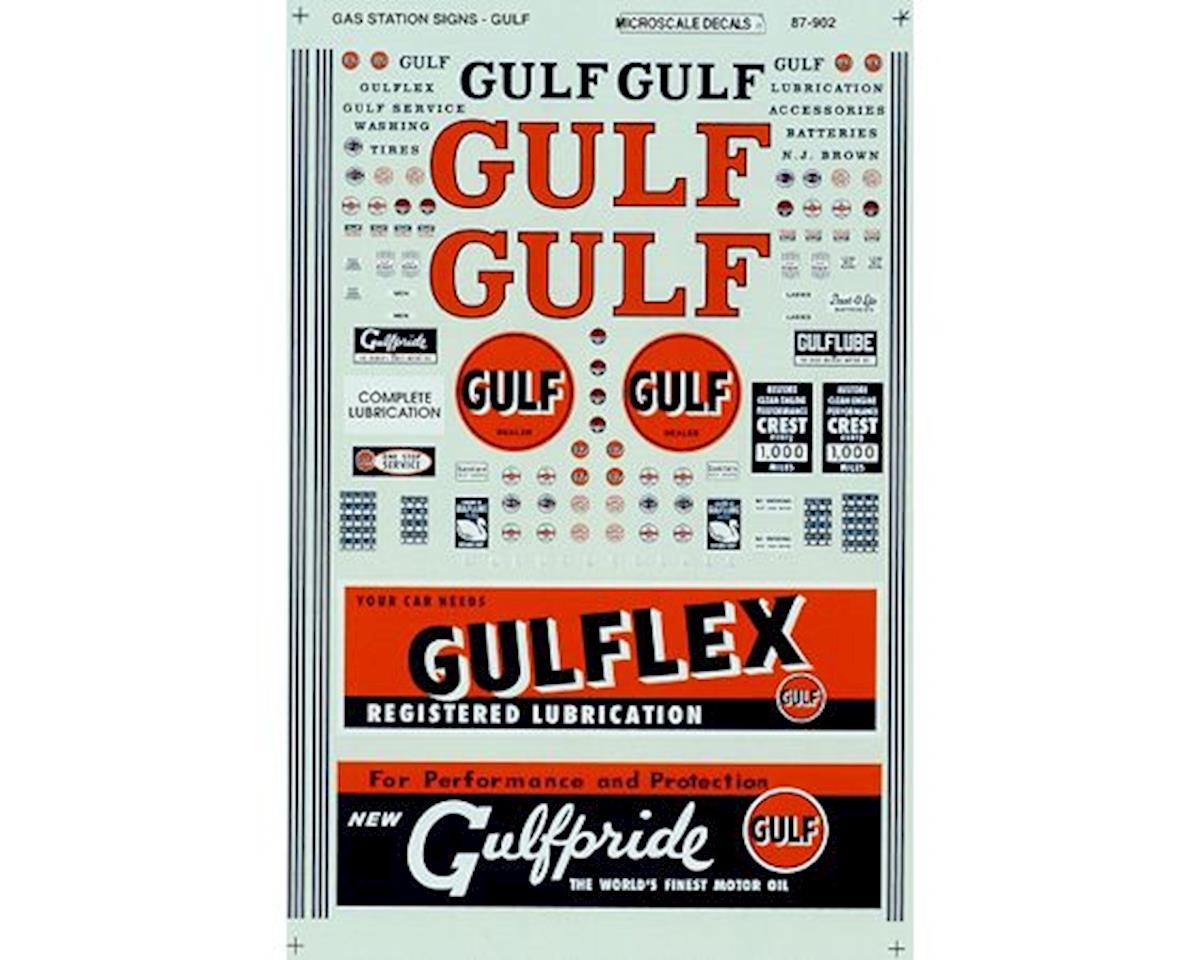 Microscale Industries HO Signs, Gulf Gas Station 1936-1963