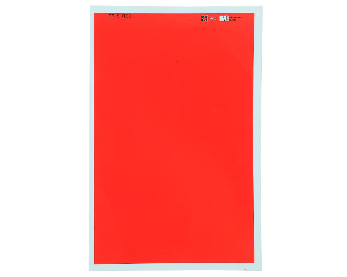 Microscale Industries 1795MS WaterSlide Trim Film Decal (Red)