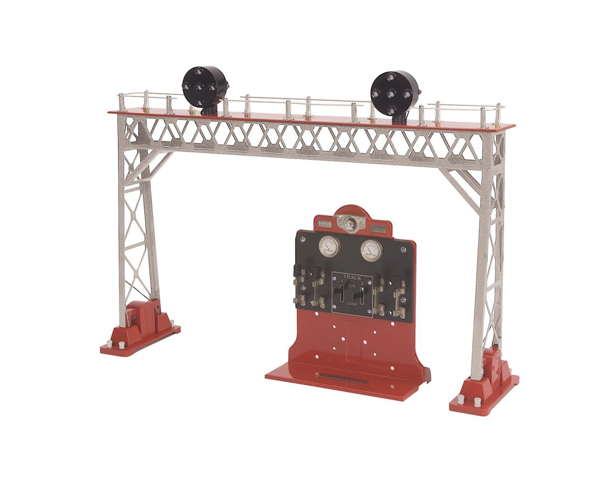 MTH Trains Standard #440 Signal Bridge, Silver/Red