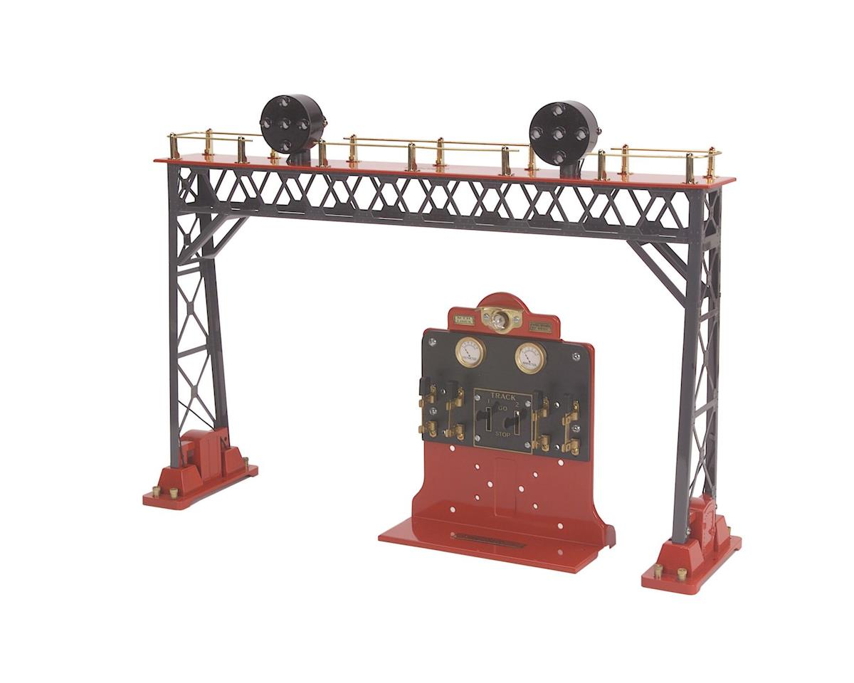 MTH Trains Standard #440 Signal Bridge, Gray/Red