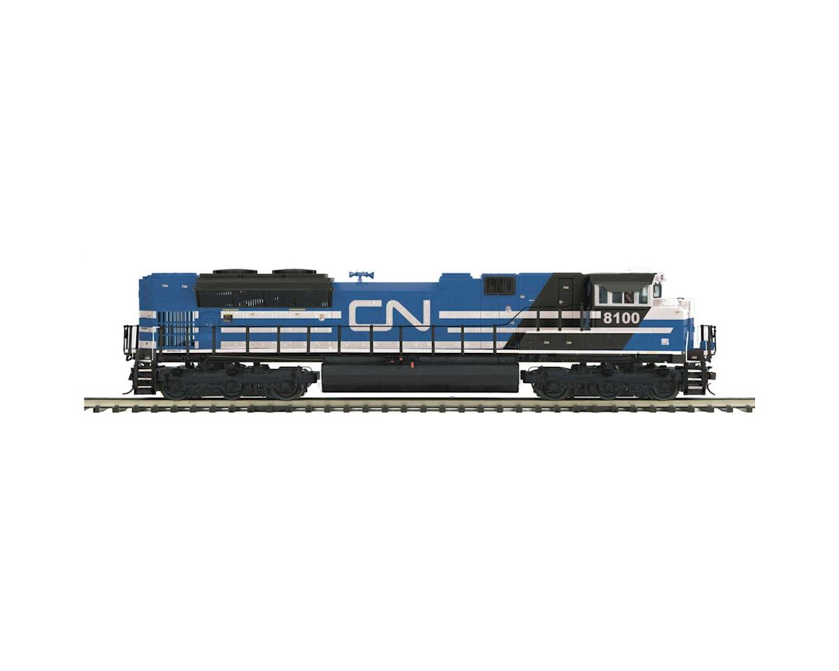 O Hi-Rail SD70M-2 w/PS3, CN #8100 by MTH Trains