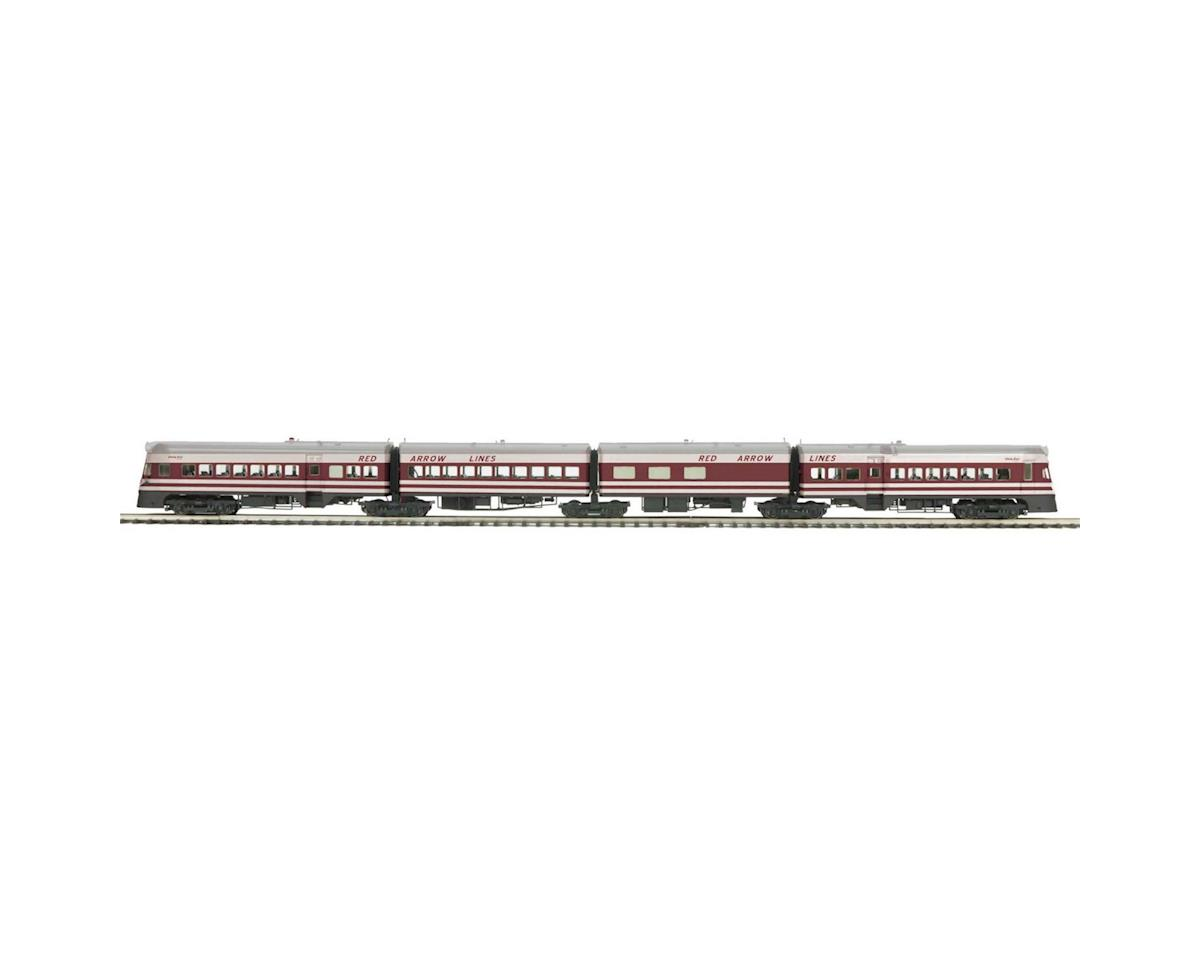 MTH Trains O Liberty Liner w/PS3, Red Arrow Lines(4)