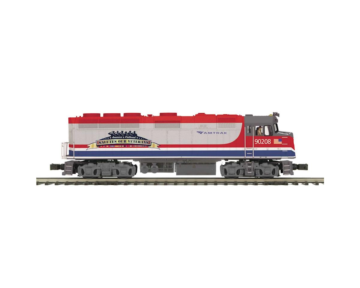 MTH Trains O Hi-Rail F40PH w/PS3, Amtrak #90208