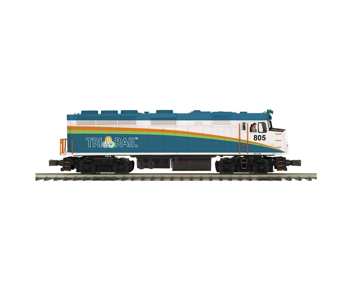 MTH Trains O Hi-Rail F40PH w/PS3, Florida Tri-Rail #805