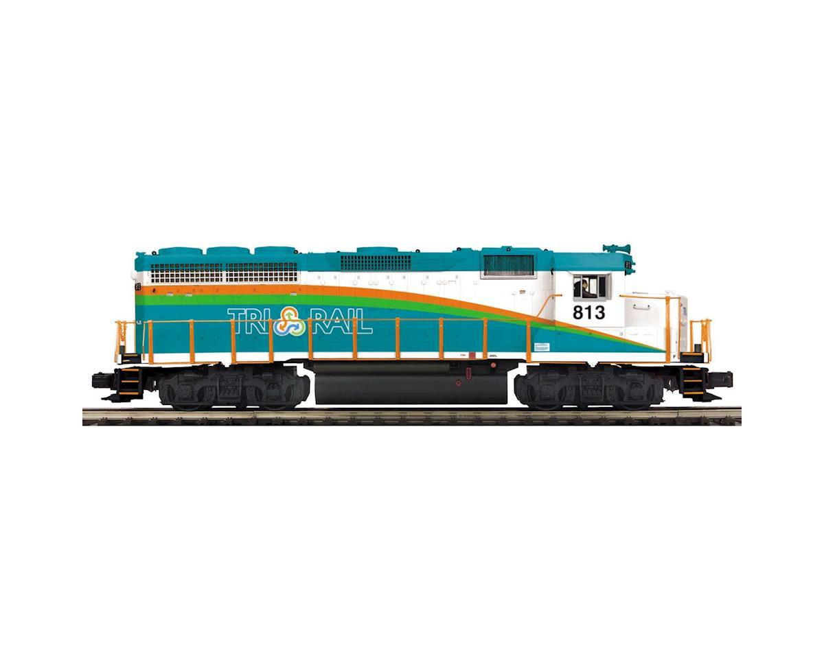 MTH Trains O Hi-Rail GP-40 w/PS3, Florida Tri-Rail #813