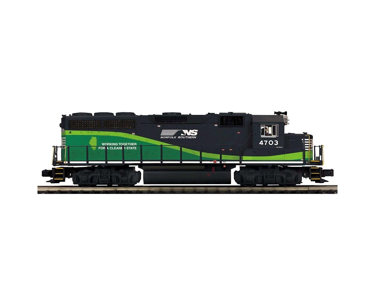 MTH Trains O Hi-Rail GP40 w/PS3, NS #4703