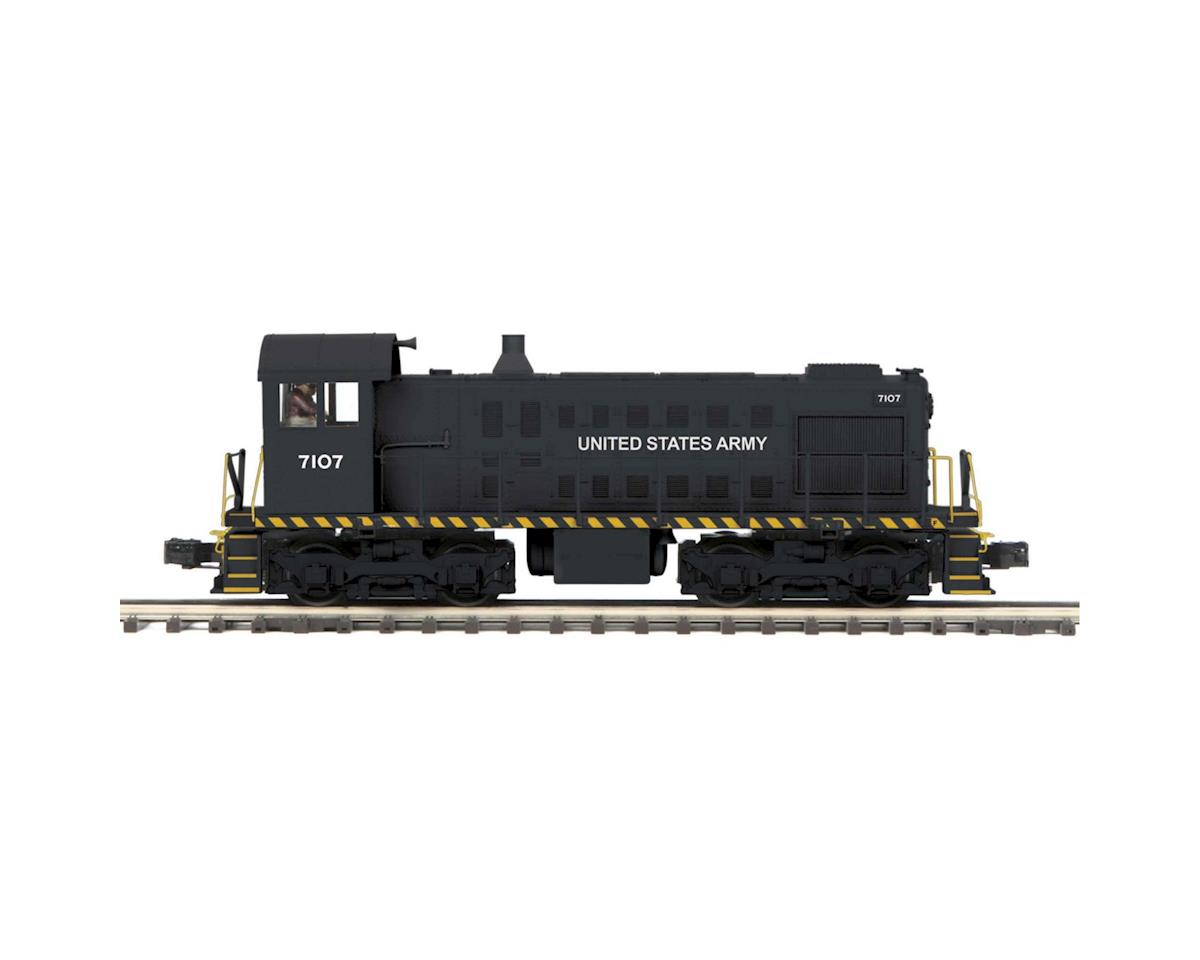 MTH Trains O Hi-Rail S-2 Switcher w/PS3, US Army #7107