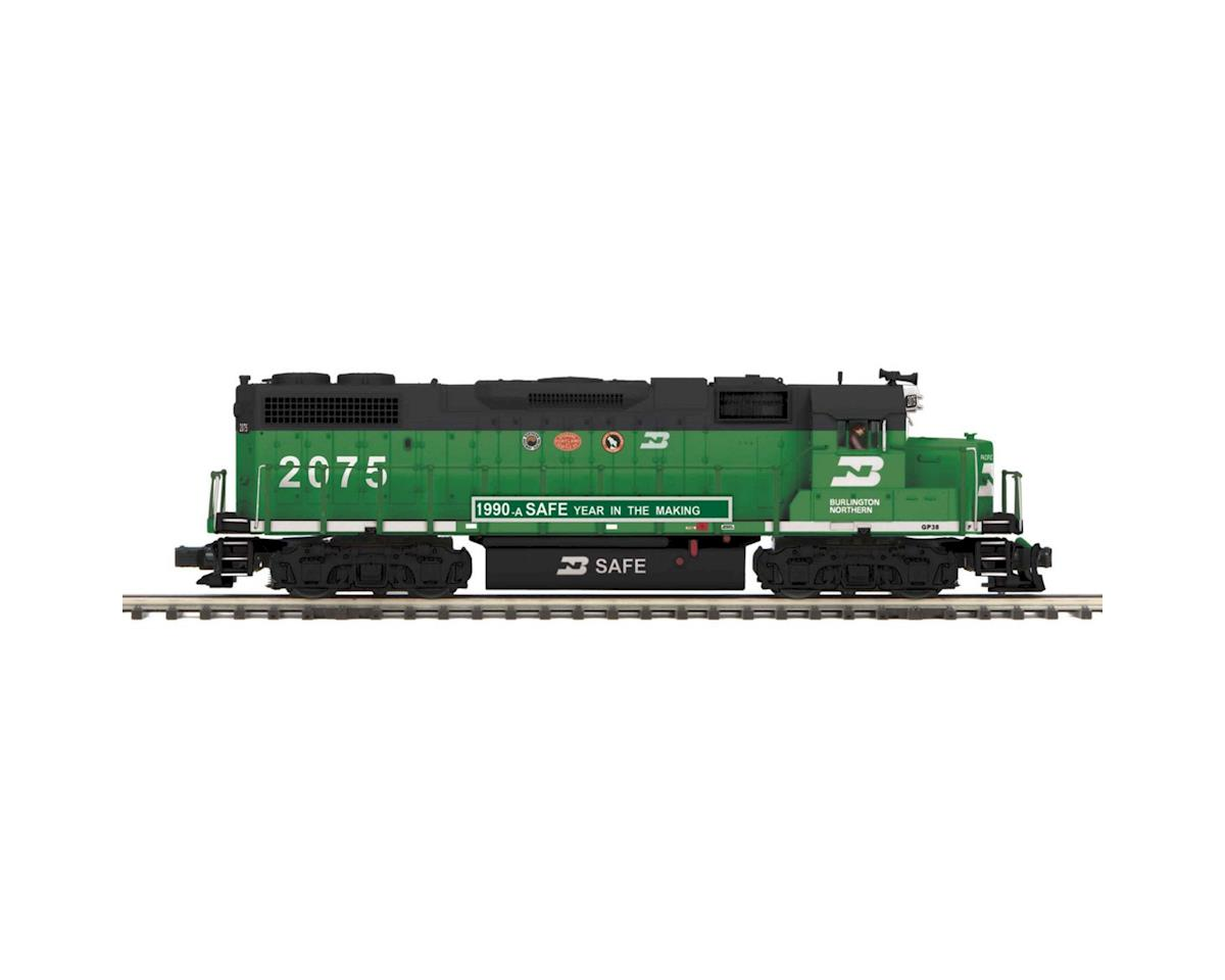 MTH Trains O Hi-Rail GP38-2 w/PS3,  BN #2075