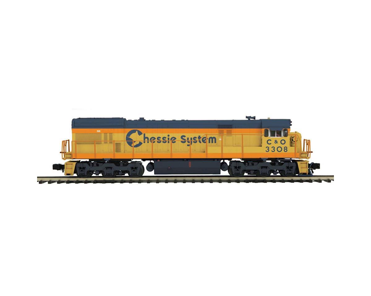 MTH Trains O Hi-Rail U30C w/PS3, Chessie #3308