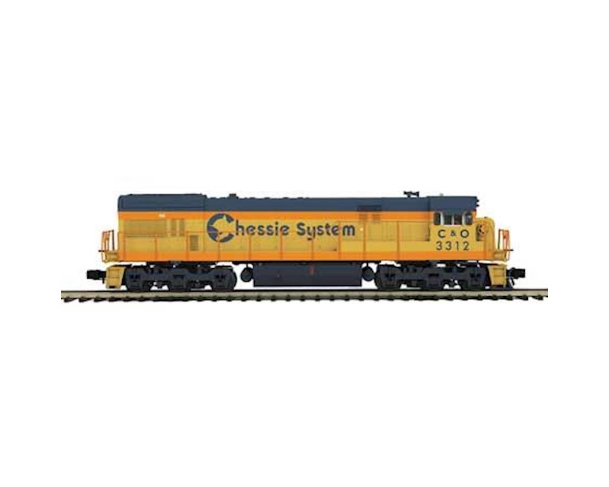 MTH Trains O Hi-Rail U30C w/PS3, Chessie #3312