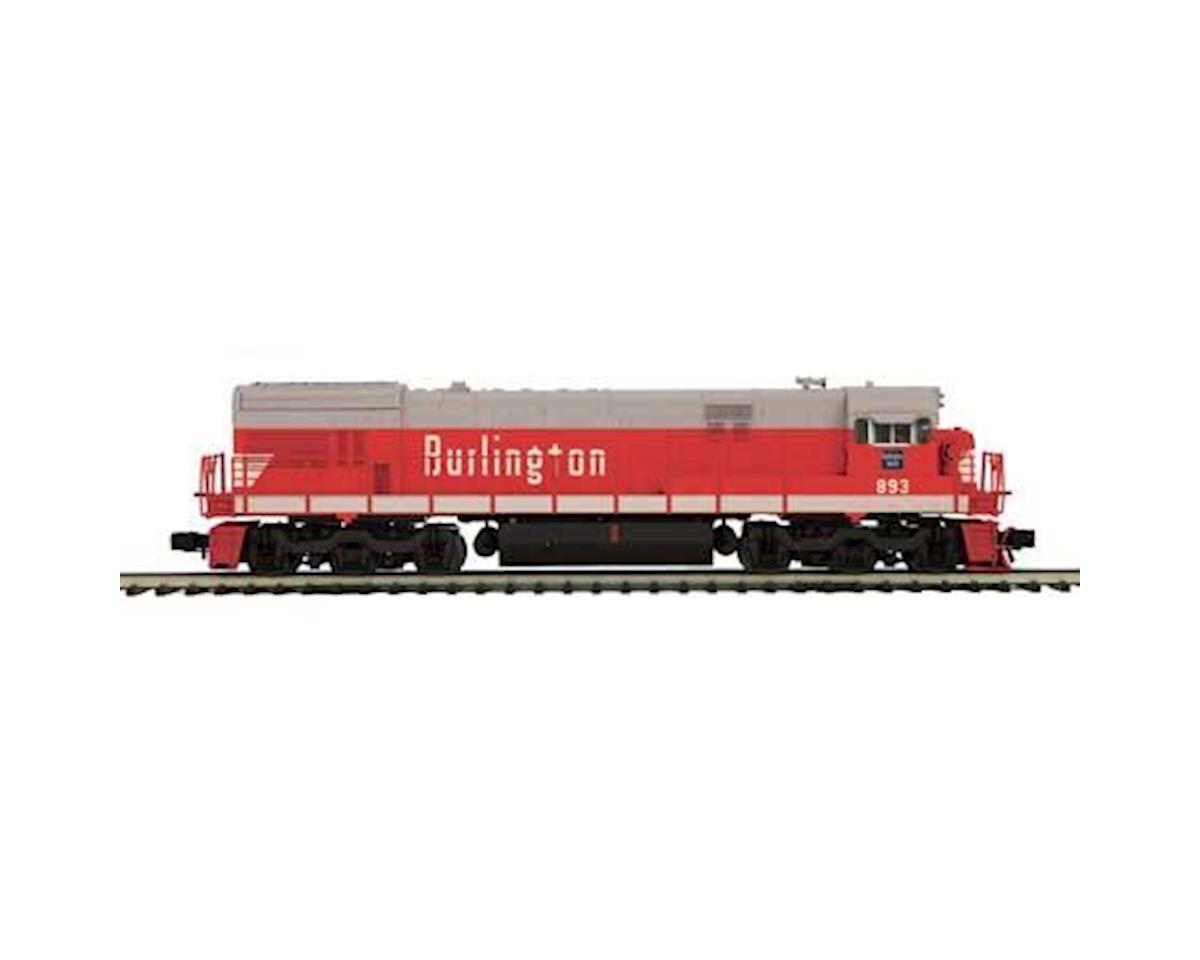 MTH Trains O Hi-Rail U30C w/PS3, CB&Q #893