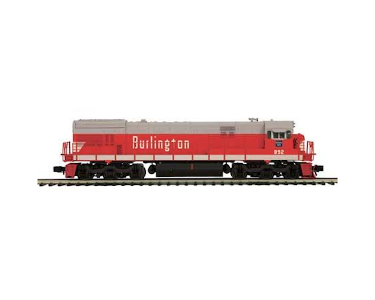 MTH Trains O Hi-Rail U30C w/PS3, CB&Q #892