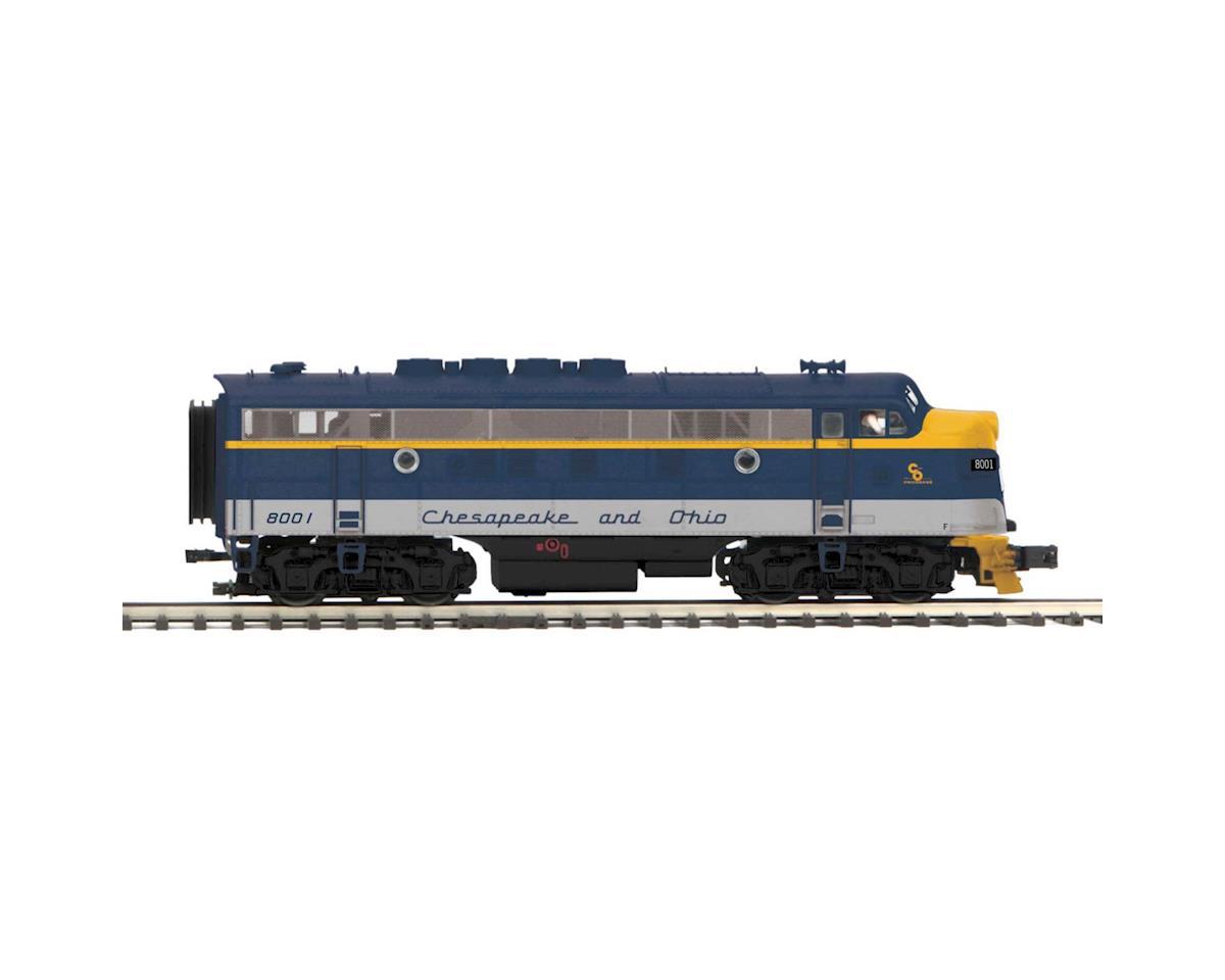 MTH Trains O Hi-Rail F3A w/PS3, C&O #8001