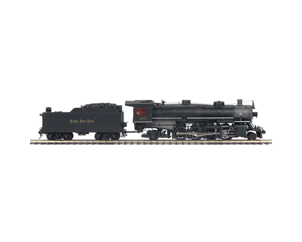 MTH Trains O Hi-Rail 2-8-2 Mikado w/PS3, NKP #587