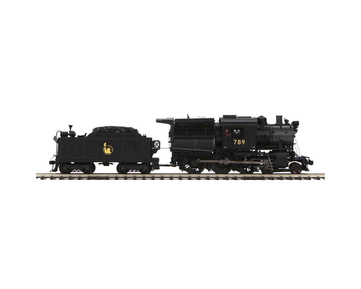 MTH Trains O Hi-Rail 4-6-0 Camelback w/PS3, CNJ #789