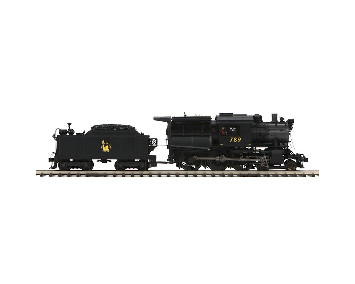 MTH Trains O Hi-Rail 4-6-0 Camelback w/PS3, CNJ #789