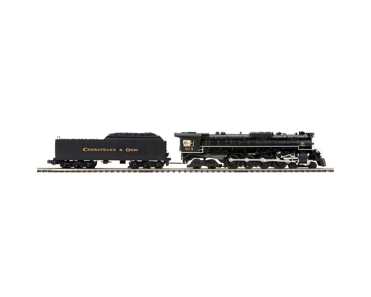 MTH Trains O Hi-Rail 4-8-4 Greenbrier w/PS3, C&O/Black #614