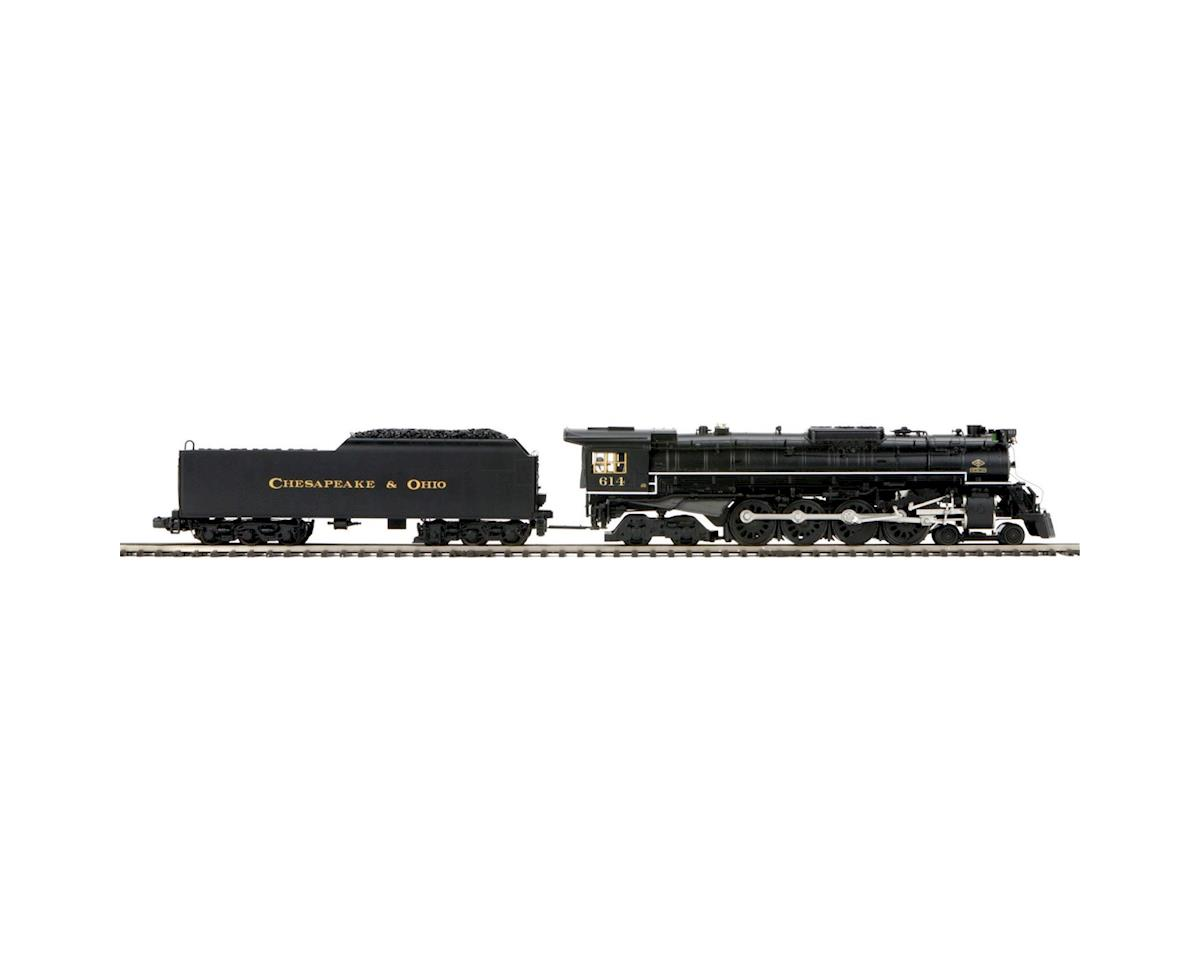 MTH Trains O Hi-Rail 4-8-4 Greenbrier w/PS3, C&O/Black #614