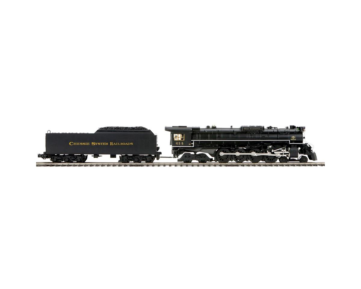 MTH Trains O Hi-Rail 4-8-4 Greenbrier w/PS3, Chessie #614