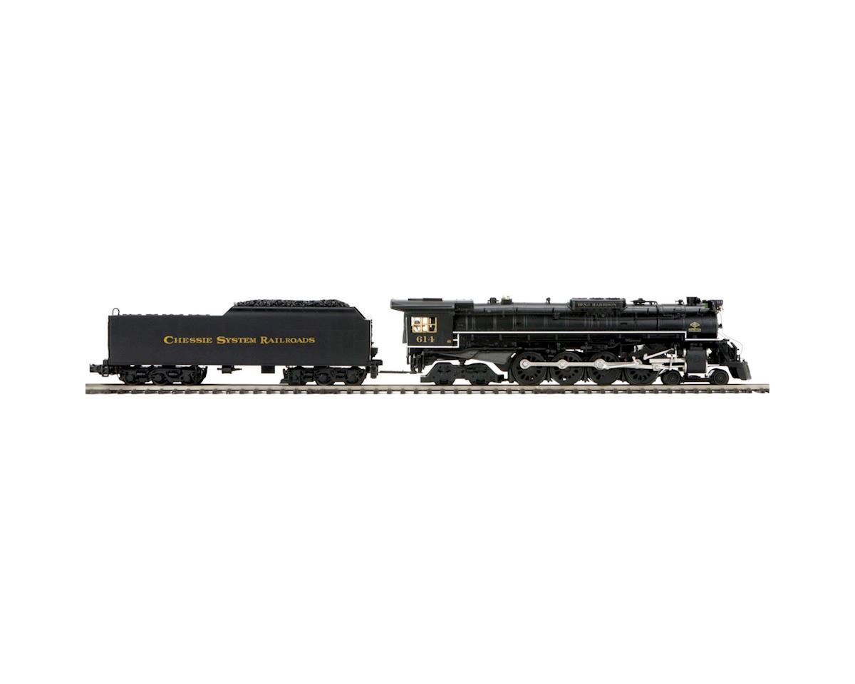 MTH Trains O Hi-Rail 4-8-4 Greenbrier w/PS3, Chessie #614