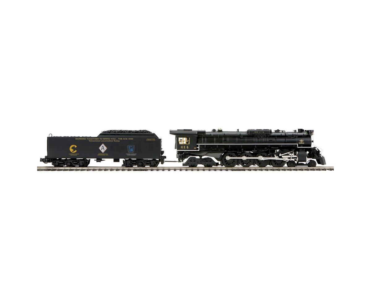 MTH Trains O Hi-Rail 4-8-4 Greenbrier w/PS3, Chessie #614T