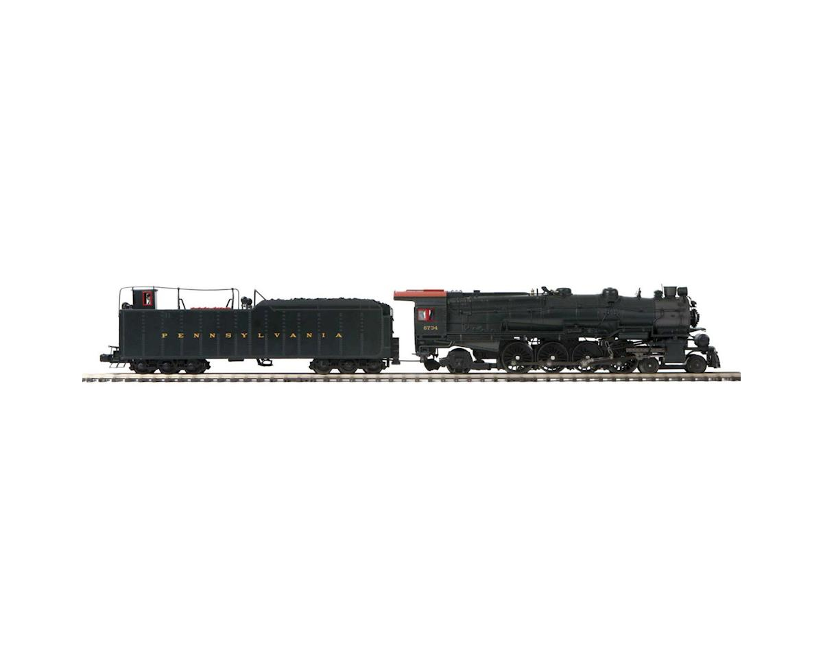 O Hi-Rail 4-8-2 M-1b Mountain w/PS3, PRR#6734 by MTH Trains