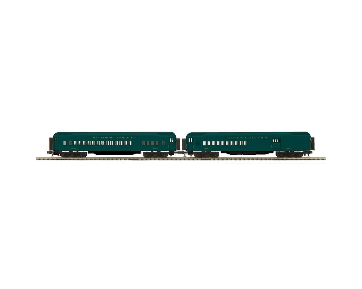 MTH Trains O 70' Madison Comb/Diner, B&O/Green