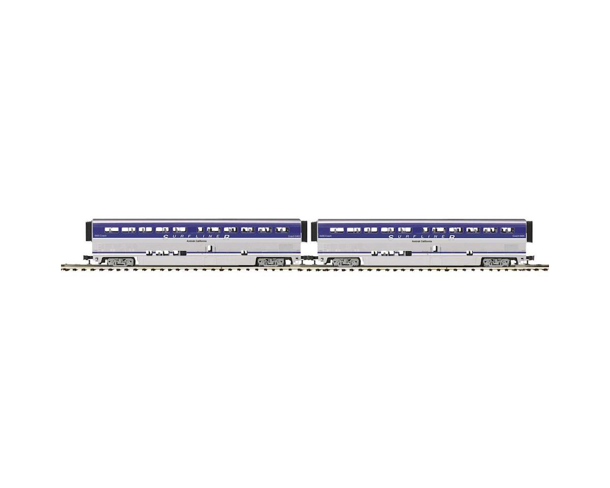 MTH Trains O SuperLiner Coach, Amtrak/Surfliner (2)