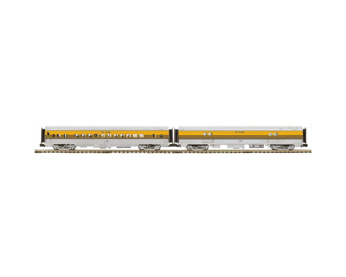 MTH Trains O 70' Streamline Smooth Baggage/Coach, D&RGW #1214