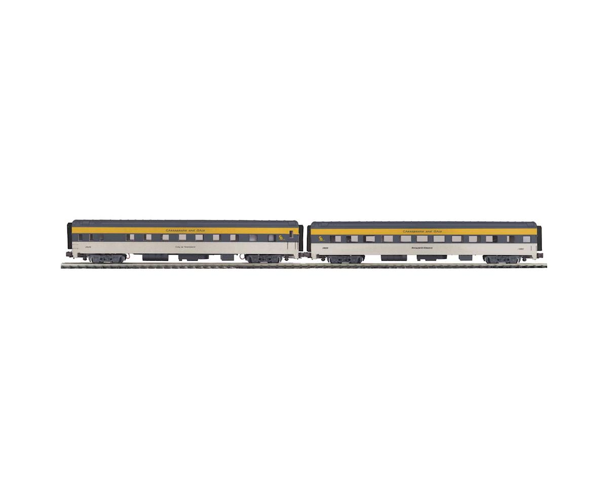 MTH Trains O 70' Streamline Smooth Sleeper/Diner, C&O