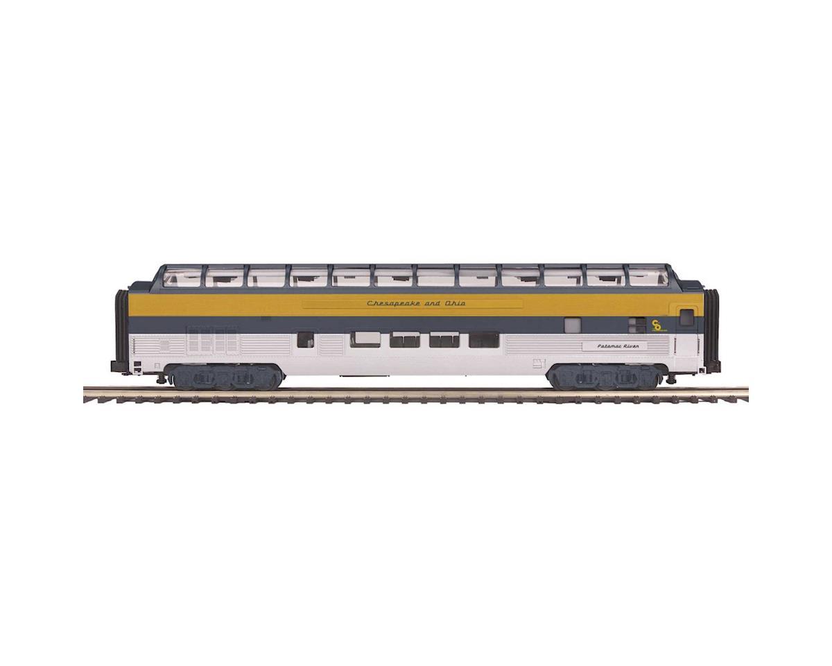 MTH Trains O70' Streamline Smooth Full Vista Dome, C&O #1895