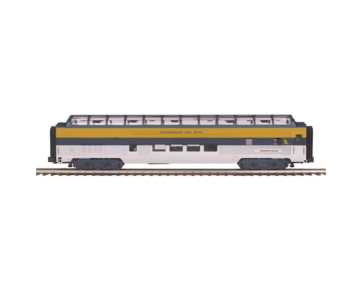 MTH Trains O70' Streamline Smooth Full Vista Dome, C&O #1895