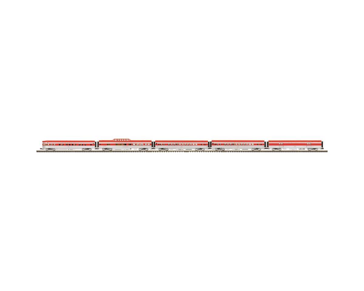 MTH Trains O 70' Streamline Ribbed Passenger, Frisco (5)