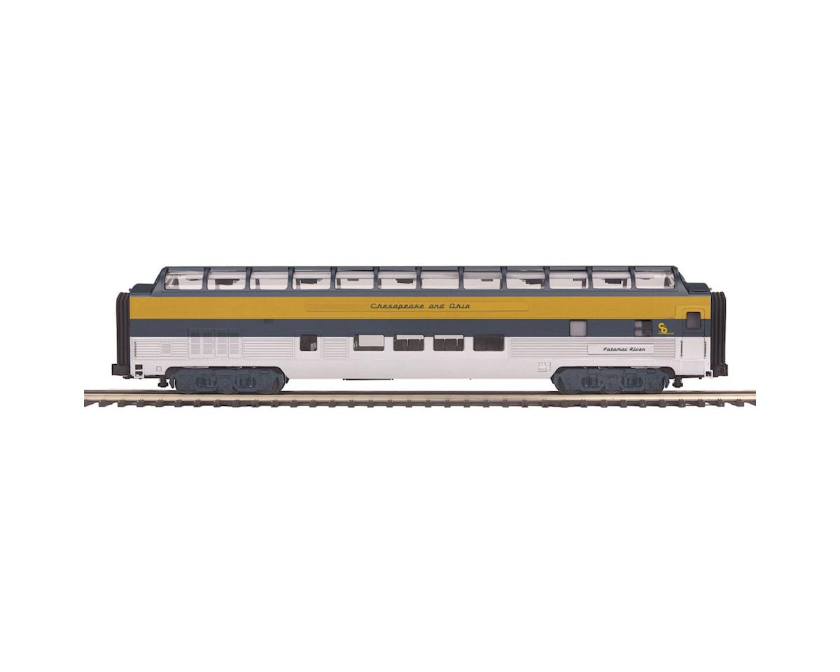MTH Trains O 70' Ribbed Full Vista Dome, C&O