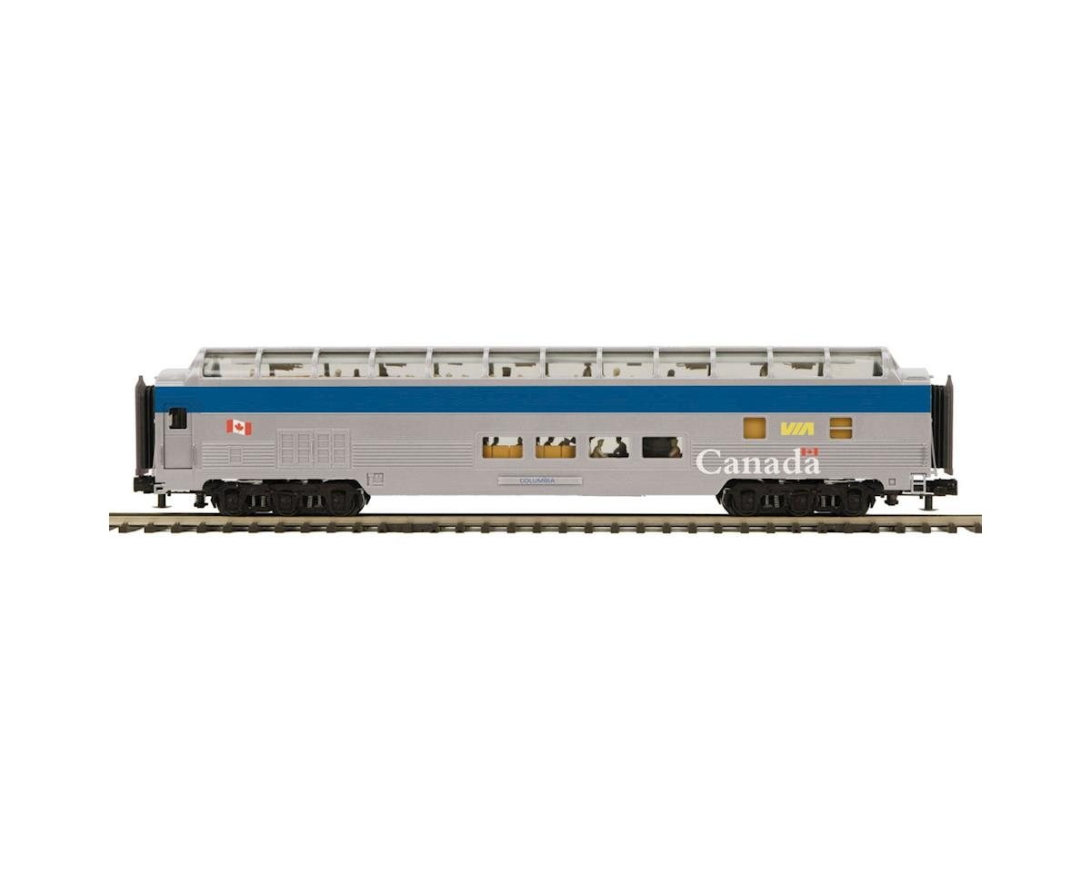 MTH Trains O 70' Streamline Ribbed Full Vista, VIA Rail
