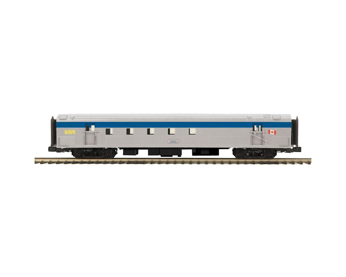 MTH Trains O 70' Streamline Ribbed RPO, VIA Rail